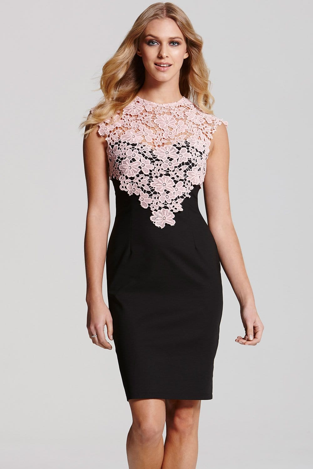 Outlet Paper Dolls Black And Pink Lace Dress Outlet