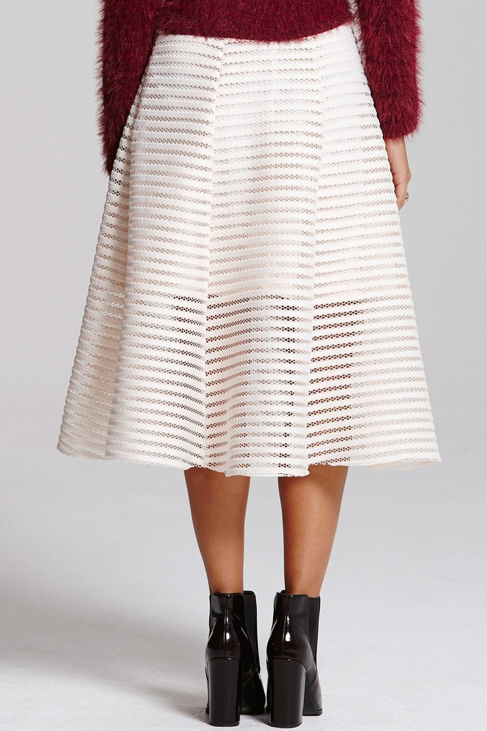 Chloe Lewis Edit Cream a-line skirt - Chloe Lewis Edit from Little ...