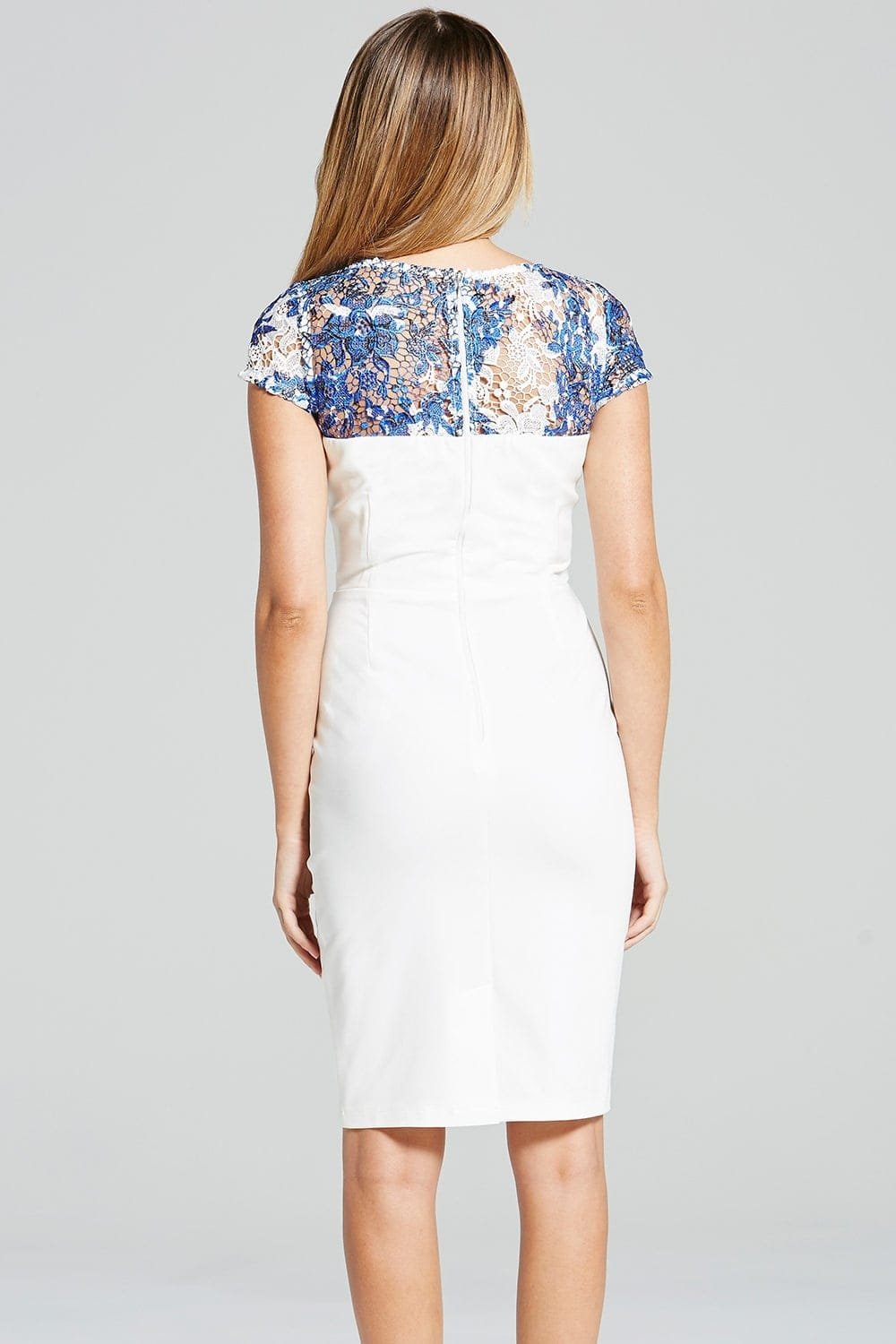 Blue And White Lace Dresses