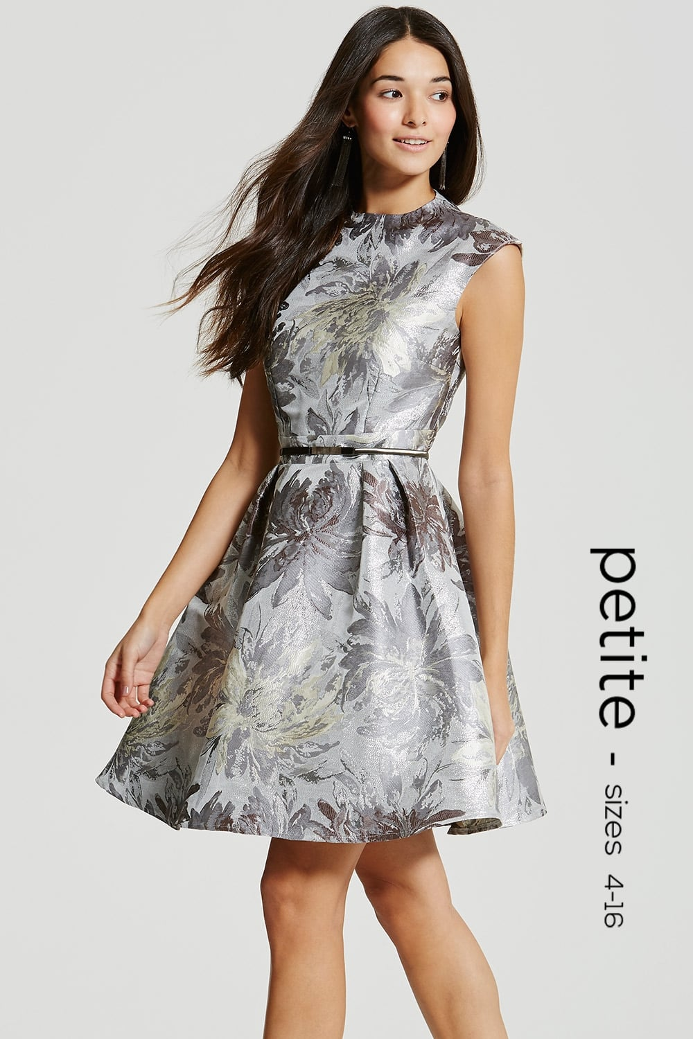 eb3066b0bced Silver Jacquard Skater Dress - from Little Mistress UK
