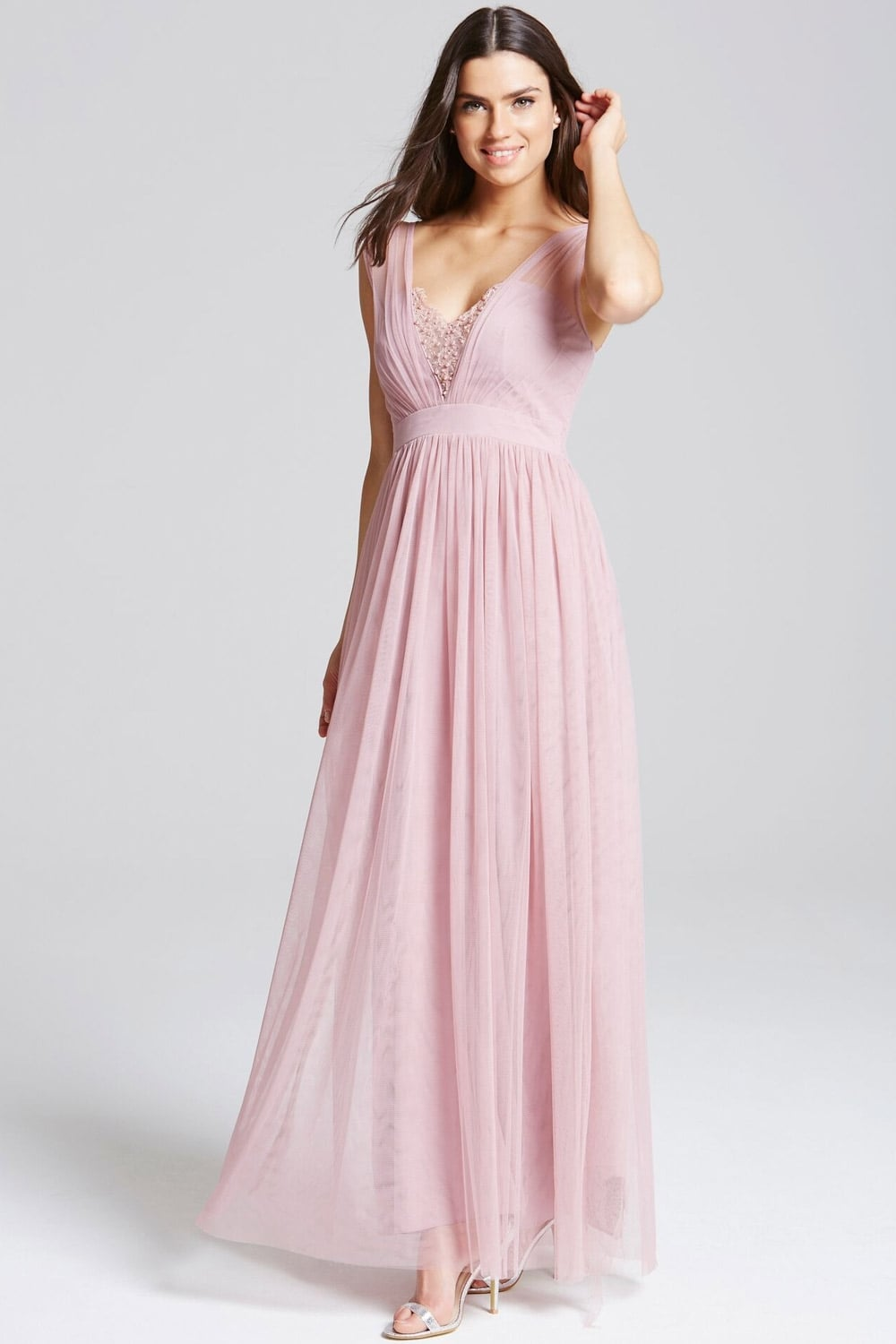 Little Mistress Rose Jewel Bust Maxi Dress - Little ...