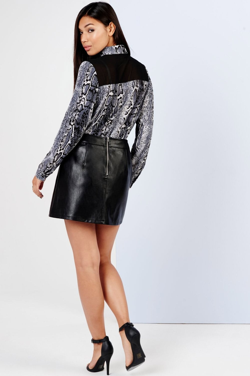 Girls on Film Black Patchwork Mini Skirt - Girls On Film from ...