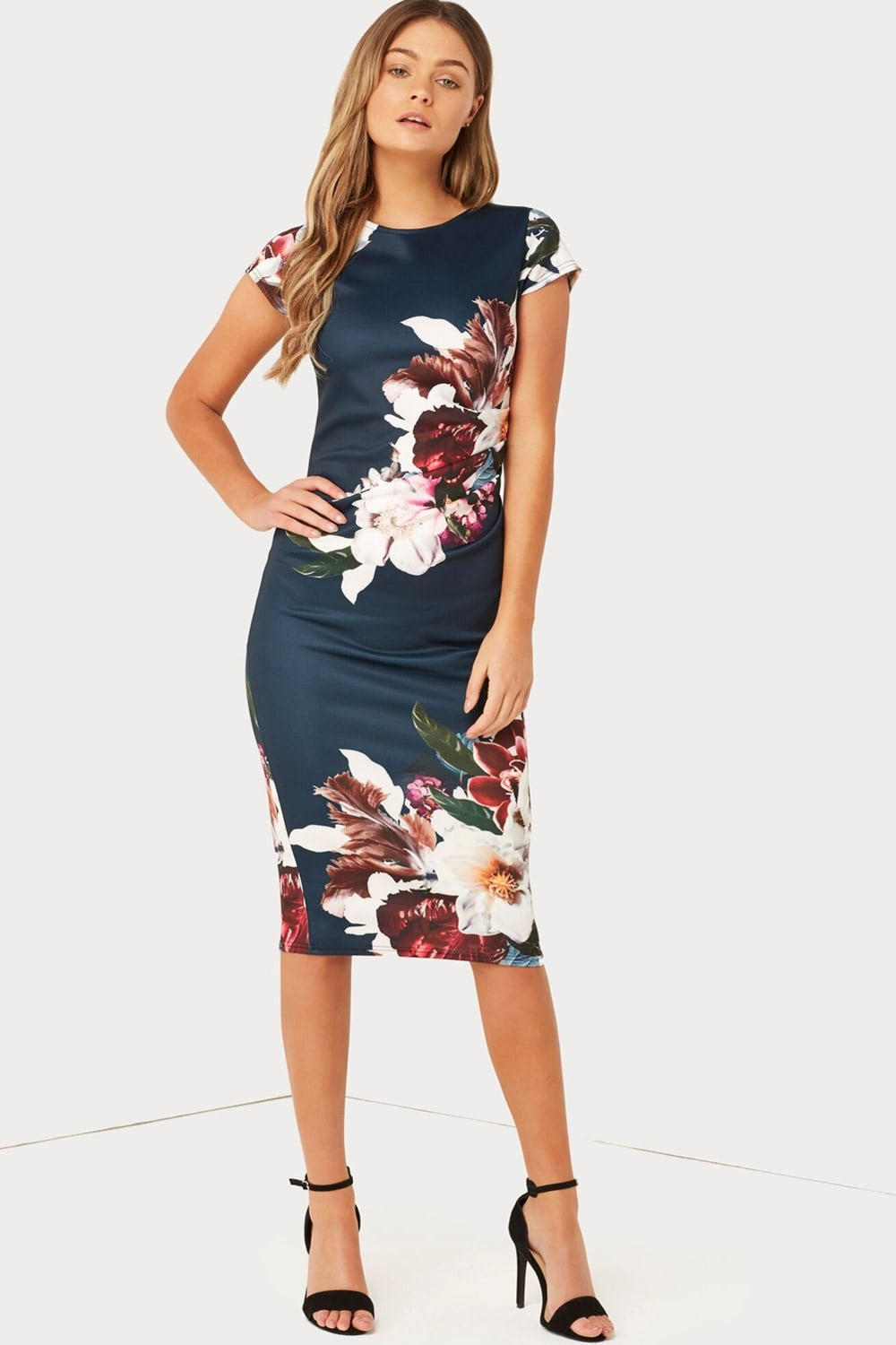 Outlet Girls On Film Print Bodycon Dress Outlet Girls On