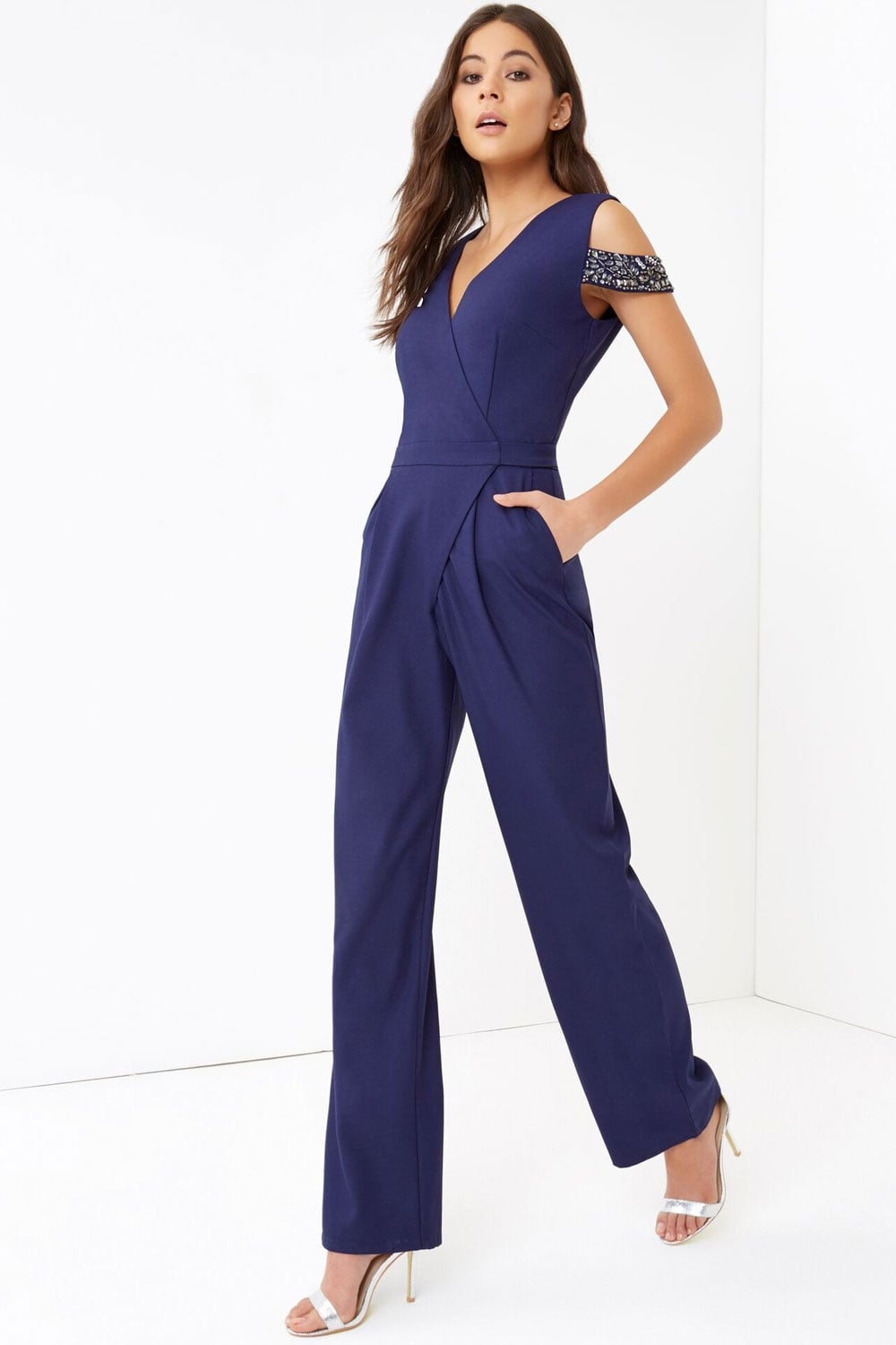 Short Sleeved Navy Blue plus size jumpsuits and playsuits; plus sized Luyeess Women's Straps Off Shoulder High Waist Ruffled Long Wide Leg Jumpsuit. by Luyeess. $ - $ $ 19 $ 23 99 Prime. FREE Shipping on eligible orders. Some sizes/colors are Prime eligible. out of 5 stars