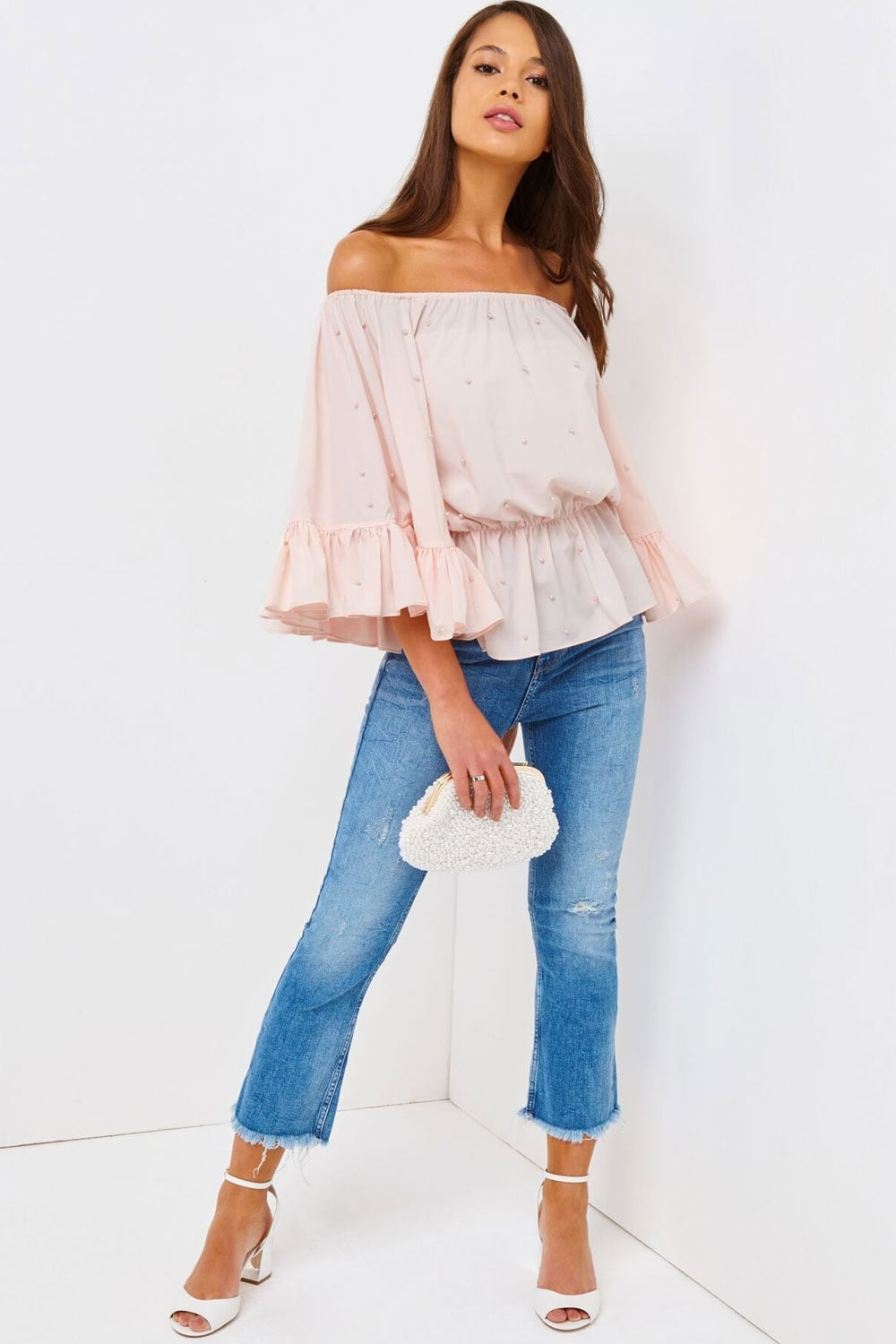 f0f0d5c24aa Outlet Girls On Film Pink Bardot Top - Outlet Girls On Film from Little  Mistress UK