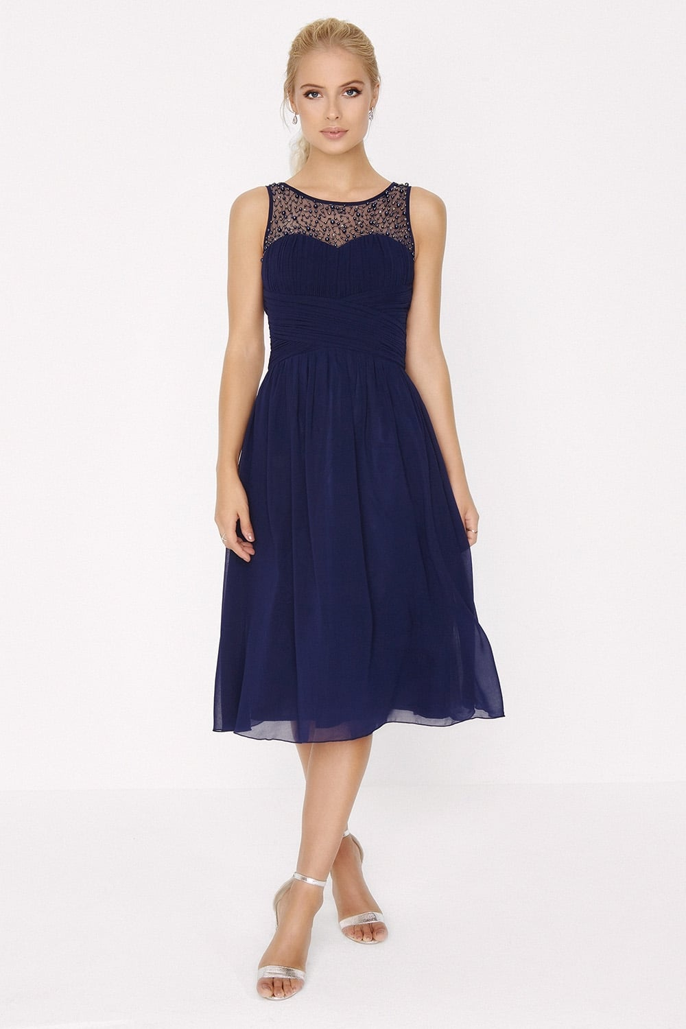 Little Mistress Navy Prom Dress - Little Mistress from ...