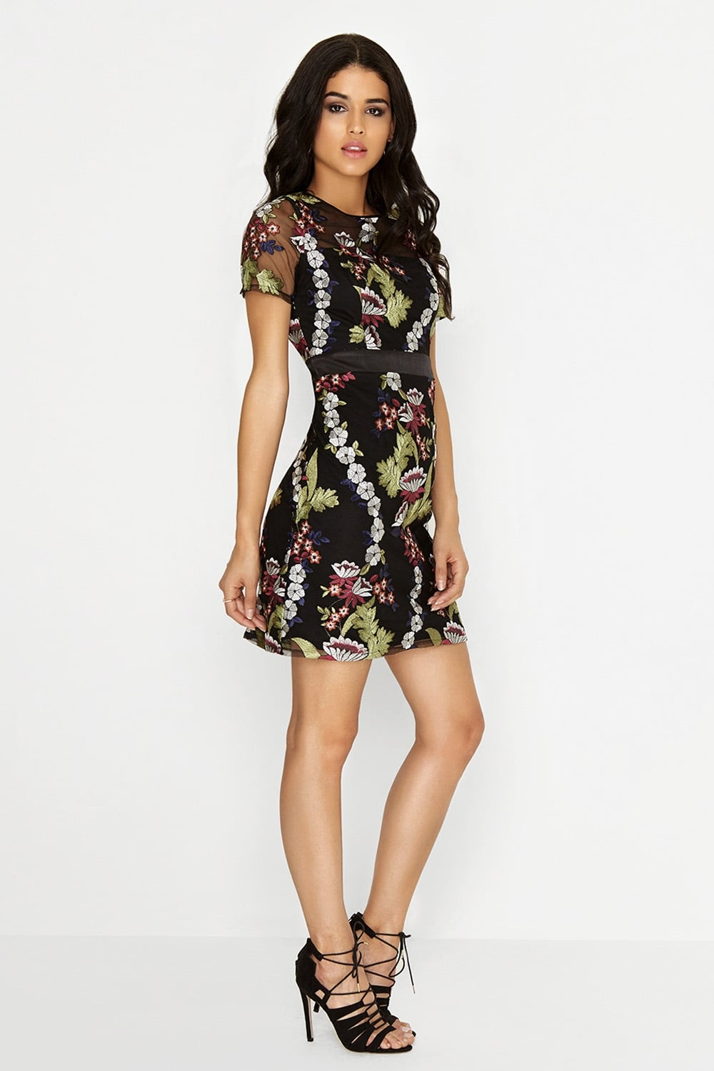 4c53cc85362 Outlet Girls On Film Embroidered Mini Dress - Outlet Girls On Film ...