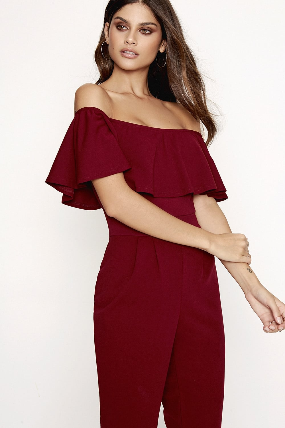 c97d3e579f Outlet Girls On Film Burgundy Jumpsuit - Outlet Girls On Film from ...