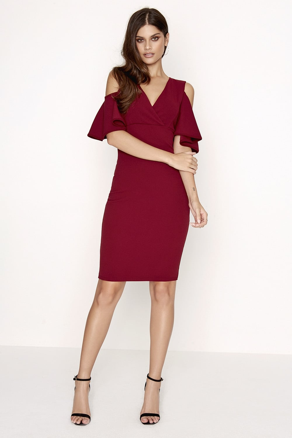 1055c5914c Girls on Film Burgundy Dress - Girls On Film from Little Mistress UK