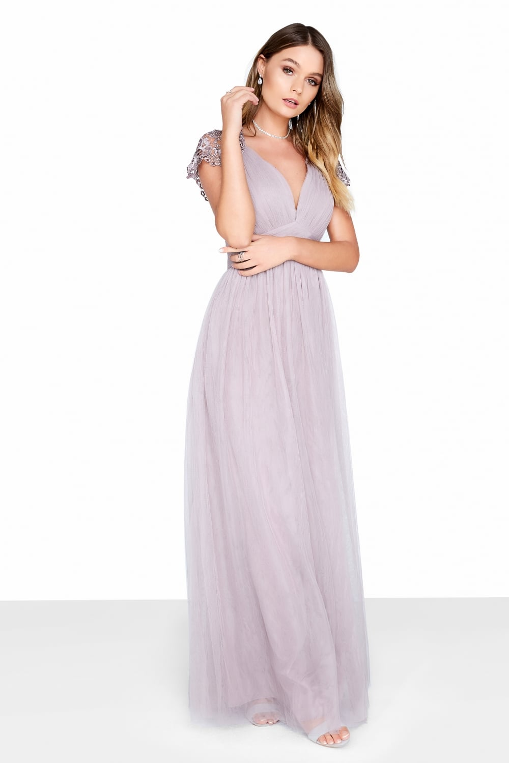 ea0b3fd96677 Little Mistress Oyster Maxi Dress - Little Mistress from Little Mistress UK