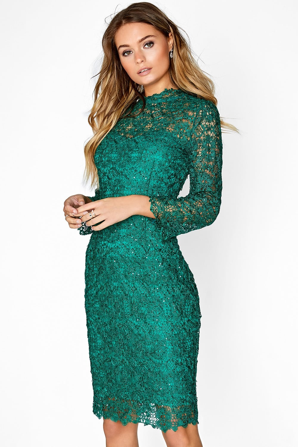 Paper Dolls Jade Green Lace Dress - Paper Dolls from ...