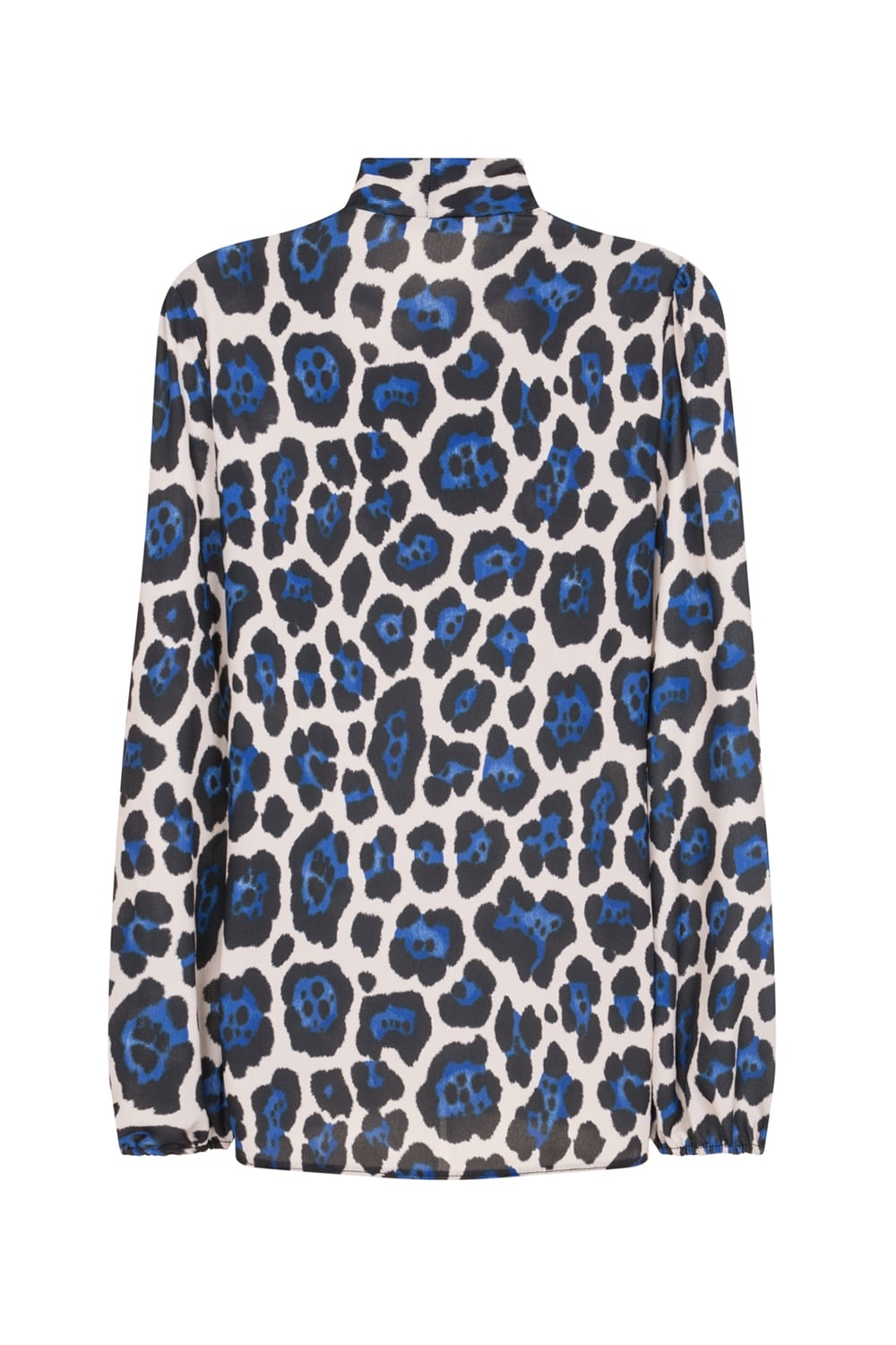 Blue Leopard Print Shirt From Little Mistress Uk