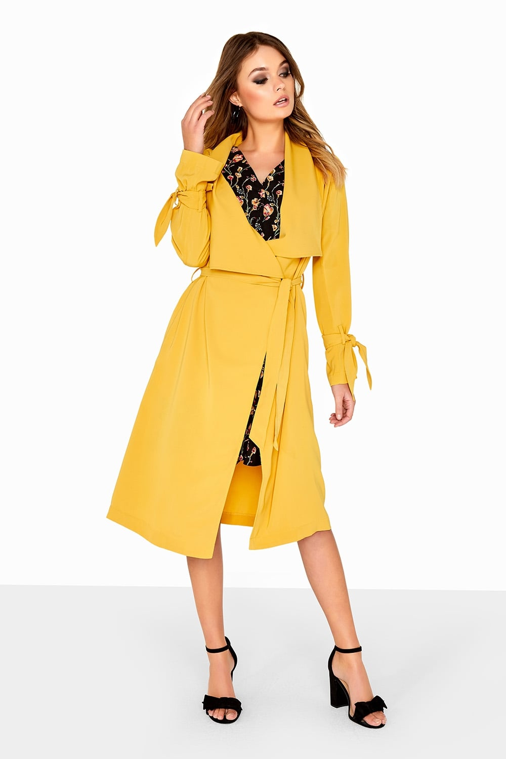 68edd52a3242 Outlet Girls On Film Yellow Wrap Jacket - Outlet Girls On Film from Little  Mistress UK