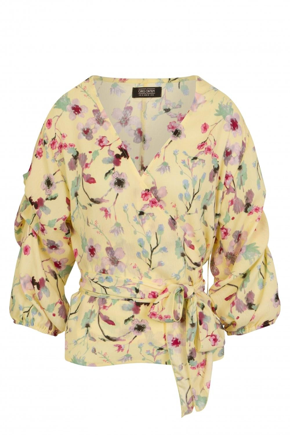 09fb01f25ede Girls on Film Romy Floral Meadow Wrap Top - Girls On Film from ...