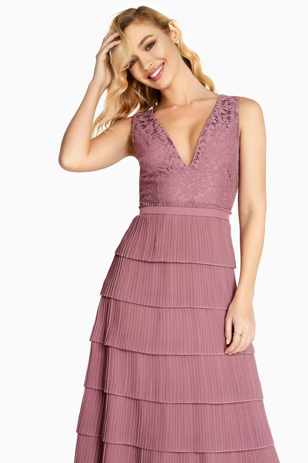 3ce331bf8648 Jasmine Lace Tiered Prom Dress - from Little Mistress UK