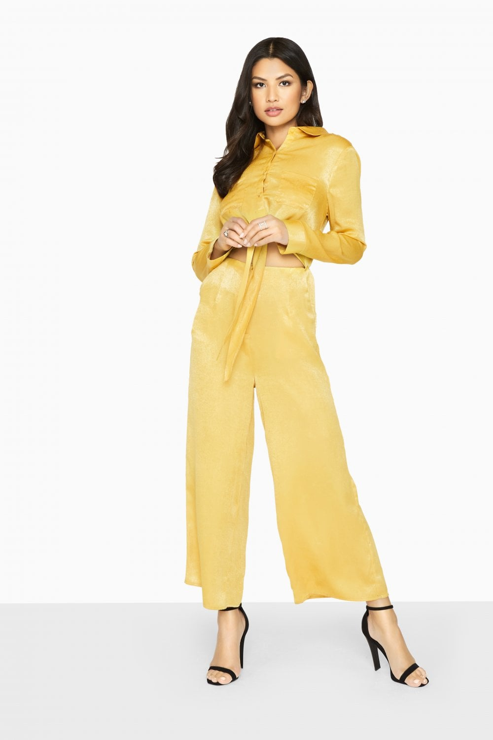 7184c75aa61100 Outlet Girls On Film Liquid Gold Utility Jumpsuit - Outlet Girls On Film  from Little Mistress UK