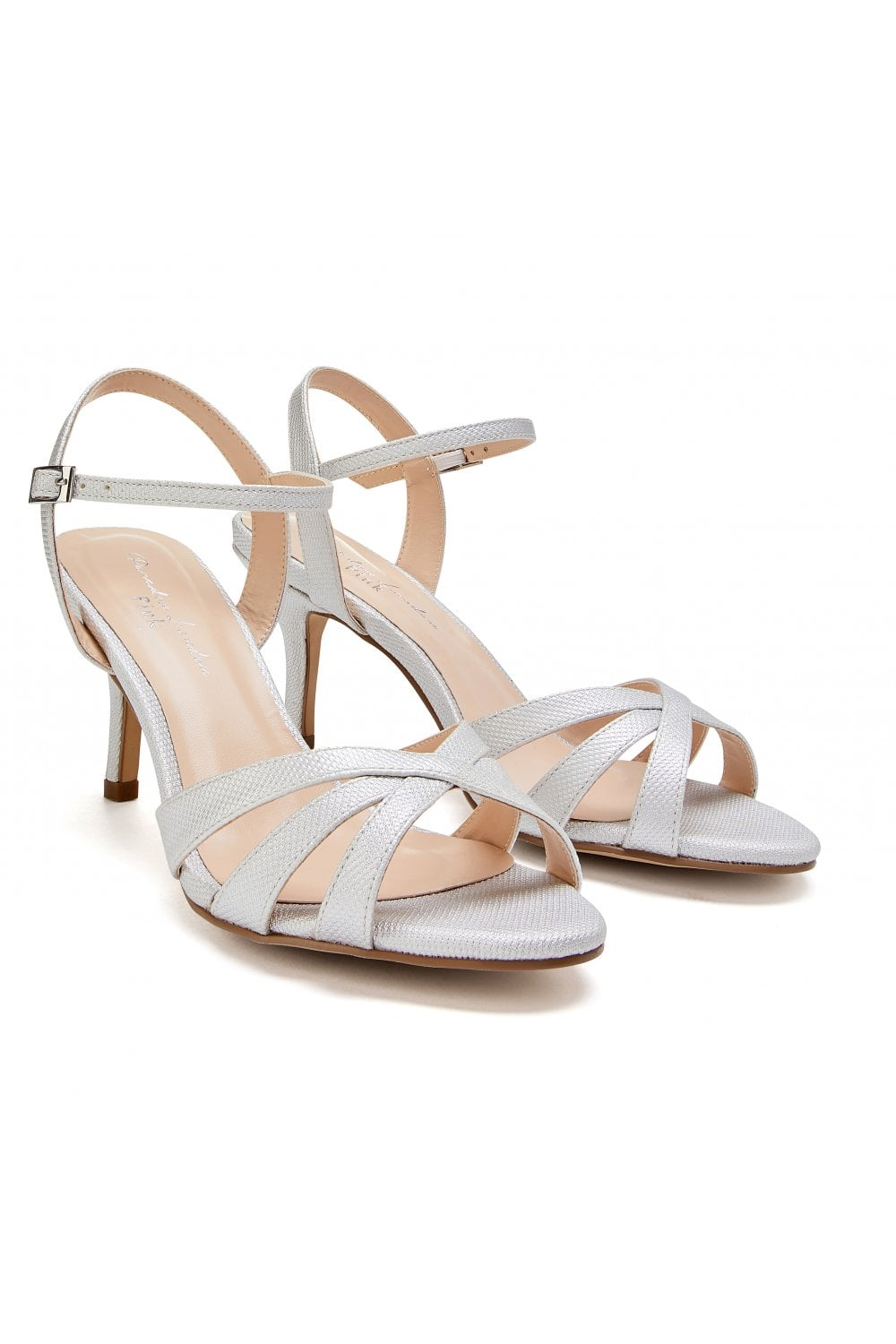 London Wide Sandals Paradox Hero Strappy Low Heel Silver Fit dtsQrhCxB