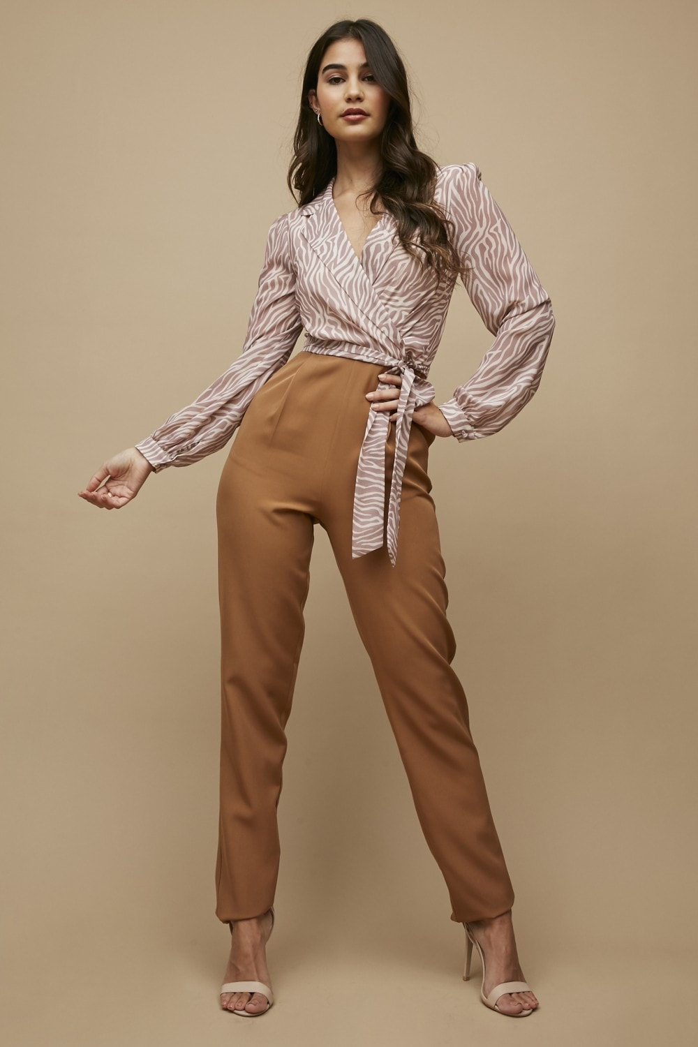 Paper Dolls Blurred Floral Tapered Trousers